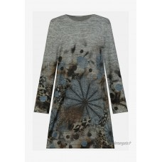 GINA LAURA STRASS Robe pull graumelange/gris chiné